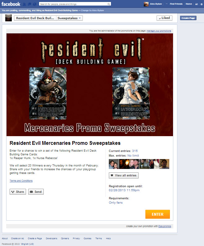 RE Contest Facebook